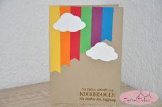 Stampin' Up! beim ZettelZirkus: Geschenk Regenbogen, Hinterm Regenbogen, Trauerkarte, Wolken,