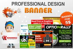 create a professional web banner ,AdWords ,ads banner by konideraz