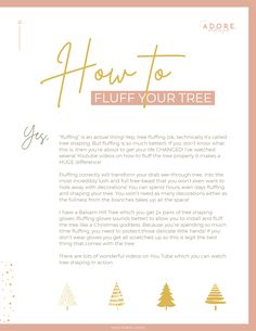 Easy steps to fluff your tree to make it look fuller and trendier All Things Christmas, Christmas 2019, Australian Christmas, Christmas Traditions, Free Gifts, Gift Guide, Easy