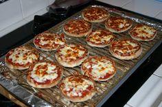 mini bazlama pizza.