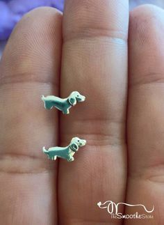 Sterling Silver Dachshund Earrings - The Smoothe Store - 2