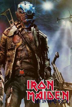 Iron Maiden Band, Iron Maiden Cover, Eddie Iron Maiden, Heavy Metal Art, Heavy Metal Bands, Black Metal, Rock Posters, Band Posters, Concert Posters