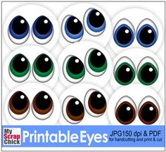 Free Svgs and cutting files from MyScrapChick Doll Eyes, Doll Face, Eye Stencil, Card Tags, Cards, Eye Stickers, Cartoon Eyes, Snowman Faces, Clay Pot Crafts