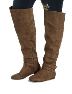 Taupe WIDE FIT Belted Over-the-Knee Boots by Charlotte Russe