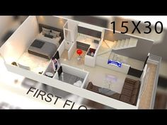 House plan interior 450 sqft house plan by nikshail One Floor House Plans, 20x30 House Plans, 2bhk House Plan, 2 Bedroom House Plans, Duplex House Plans, Small House Plans, Home Map Design, Duplex House Design, House Front Design
