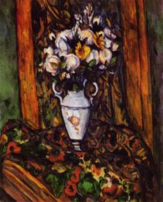 Naturaleza muerta, florero con flores, 1903 - Paul Cézanne