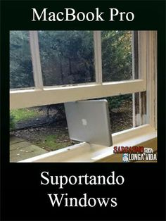 Macbook Pro com Window... Não pera! http://sarcasmolongavida.blogspot.com.br/2014/05/macbook-com-windows.html #windows #apple #macosx #microsoft #macbook #imagens #montagens