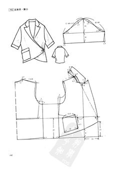 #sewing #patternmaking wrapped jacket or blouse