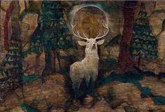 'the vision of saint hubert' by egon schiele (1916)