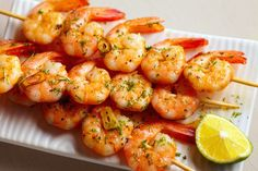 Garlic Lime Shrimp Skewers