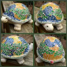 Garden Mosaic Stained Glass Turle by artsyphartsy (Kathleen), via Flickr