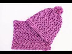 Gorro y cuello crochet muy fácil y rápido MAJOVEL CROCHET - YouTube