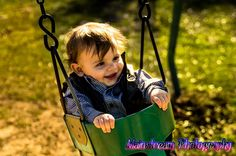 One year old swing photo idea