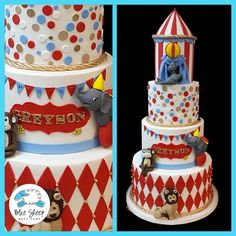 For more information or to get a quote get in touch with us by email or phone at To view cakes by category click the + sign next to the word 'CAKE CATEGORIES' on the grey menu above. Carnival Birthday Cakes, Carnival Cakes, Circus Carnival Party, Circus Theme Party, Adult Birthday Cakes, Themed Birthday Cakes, Kids Party Themes, Circus Birthday, Carousel Party