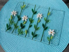 Daisy Serving Dish - Fused Glass Serving Plate
