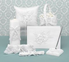 Wedding Ceremony Supplies Features A Matching Accessories Six Piece Set Flower Basket Ring