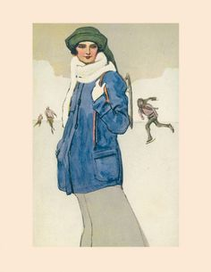 La neve di Marcello Dudovich, illustrazione - Marcello Dudovich's snow, illustration