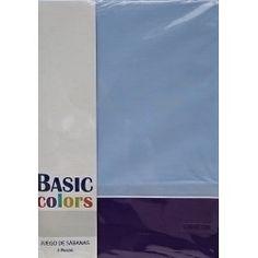 Basic color juego de sabanas de verano basicas marron y for Camas 135 baratas