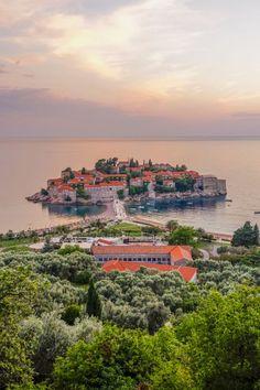 14 Under-the-Radar Romantic Getaways: Sveti Stefan, Montenegro Romantic Vacations, Romantic Getaways, Romantic Travel, Travel Themes, Travel Destinations, Reisen In Europa, Holiday Places, Travel Couple, Australia Travel
