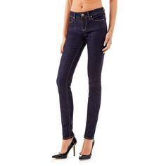 Jeans Skinny mid    Diese Five-Pocket-Jeans im Skinny Fit mit mittelhohem Bund besticht durch ihre moderne Optik. Sie ist besonders vielseitig und wie geschaffen für extravagante und dynamische Outfits.    92% Baumwolle 6% Polyester 2% Elastan.  10,5-oz-Denim.  Maschinenwäsche bei 30°.  Abgebildet ist Größe 27, Maße:  Innere Beinlänge ca. 86 cm.  Gesamtlänge ca. 105 cm.  Fällt größengetreu aus....