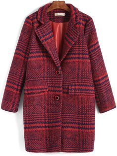 Shop Red Lapel Plaid Single Breasted Woolen Coat online. SheIn offers Red Lapel Plaid Single Breasted Woolen Coat & more to fit your fashionable needs.