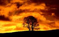 Dramatic skies at sunrise over Hawes, Wensleydale... Picture: Neil Squires/PA