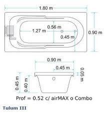 Resultado de imagen para medidas de tina
