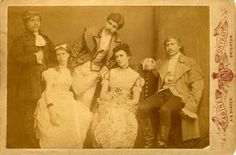"1883 Fancy Dress  A cabinet portrait of a group of young people wearing 18th century costume, photographed by A. E. Slater of 24 St Georges Road, Brighton. Although they could be mistaken as a troupe of actors and actresses, this group were probably on their way to a fancy dress ball or historical pageant. The photographer Albert Edward Slater ( born 1863, Brighton ) began his working life as a hairdresser's assistant, but  he set himself up as a ""Photographic Artist"" at 24 St Georges Road."