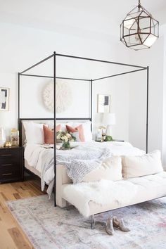 Home Interior Salas Refresh Your Master Bedroom and Bath with Pottery Barn.Home Interior Salas Refresh Your Master Bedroom and Bath with Pottery Barn Room Design, Home Bedroom, Bedroom Interior, Cheap Home Decor, Home Decor, House Interior, Modern Bedroom, Small Bedroom, Simple Bedroom