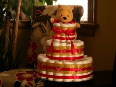 Diaper cakes for baby showers call 904-207-5232 or visit us online at http://www.uniqueshowers.net