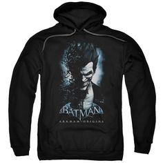"""Checkout our #LicensedGear products FREE SHIPPING + 10% OFF Coupon Code """"Official"""" Batman Arkham Origins / Joker-adult Pull-over Hoodie - Batman Arkham Origins / Joker-adult Pull-over Hoodie - Price: $49.99. Buy now at https://officiallylicensedgear.com/batman-arkham-origins-joker-adult-pull-over-hoodie"""