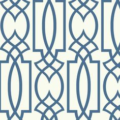Showcasing an Art Deco-inspired trellis motif, this classic wallpaper brings a stylish touch to any room. Make a chic statement on an accent wall, or let it ...