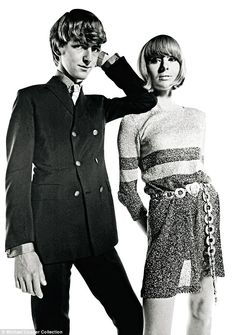 Tara Browne and wife Nicki photographed for Vogue. Tara was a central figure in the counter-culture scene of Sixties London