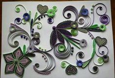 Superbe... ... Quilling Flowers, Paper Quilling, Quilled Creations, Quilling Designs, Floral Designs, Butterflies, Card Making, Crafts, Nature