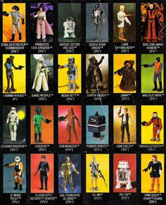 Star Wars action figures: the first series. I think I had every one of these back in the day (may still have them actually).