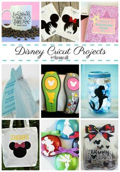 disney crafts I've rounded up 40 Disney Cricut Projects any Disney fan will love. Bonus, it's combining two of my favorite things, Cricut crafting and Disney. Disney Princess Crafts, Disney Crafts For Kids, Disney Ideas, Walt Disney, Disney Pixar Up, Disney Magic, Lego Mecha, Tinker Bell, Disneyland