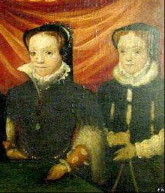 Mary I, and Elizabeth I: Full portrait contains Henry VIII, his fool, Will… Tudor History, British History, Asian History, Lancaster, Tudor Era, Tudor Style, Elisabeth I, Tudor Dynasty, King Henry Viii