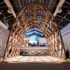 Gabinete+de+Arquitectura+presents+latticed+brick+arch+as+model+for+low-cost+construction