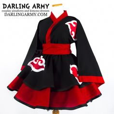 Custom cosplay alternatives for the cute enthusiast Akatsuki Cosplay, Pretty Prom Dresses, Simple Dresses, Pretty Outfits, Cosplay Outfits, Anime Outfits, Asian Prom Dress, Kimono Fashion, Fashion Outfits