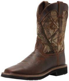 Justin Original Work Boots Men`s Stampede Camo Waterproof Work Boot for only $110.00
