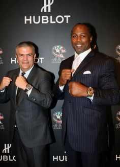 World #boxing champion #Lennox Lewis at the Inauguration of the #Hublot World Boxing Council Pension Fund in Las Vegas