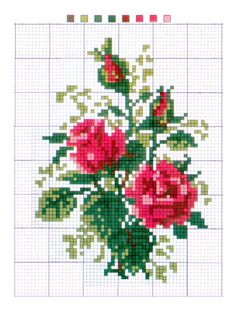 roses cross stitich