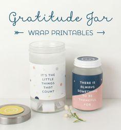 Gratitude Jar Printables ~ Tinyme