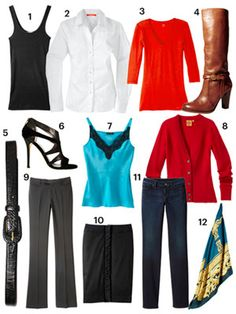 Fall 2012 - 12 Basics (part of what is used to create over 40 outfits on redbook.com!)