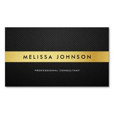 Professional Elegant Modern Black and Gold Business Card Template. This great business card design is available for customization. All text style, colors, sizes can be modified to fit your needs. Just click the image to learn more! Lawyer Business Card, Metal Business Cards, Gold Business Card, Elegant Business Cards, Custom Business Cards, Professional Business Cards, Business Card Design, Creative Business, Text Style