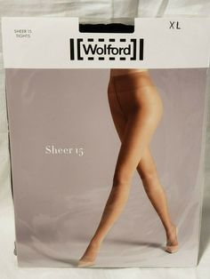 fb3fd593561 Wolford Sheer 15 Tights   Pantyhose Black XL  fashion  clothing  shoes   accessories