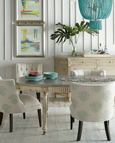 Turquoise Bead 4 Light Chandelier Dining ChairDining RoomsRooms FurnitureBeach HouseChandeliers