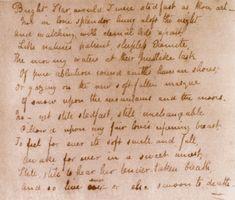 original bright star manuscript from John Keats. sigh.