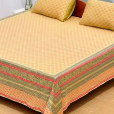 Sharrate provides premium range of luxury bedsheets where you get unique taste of collection for your bed rooms. Luxury Bed Sheets, Bed Sheets Online, Buy Bed, Bed Sheet Sets, Woven Fabric, Orange, Cotton, Stuff To Buy, Furniture