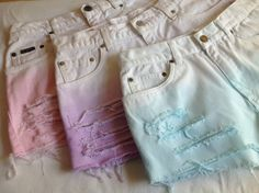 YOUR SIZE Pastel Ombre High Waisted Shorts